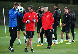 Manchester United manager Jose Mourinho watches over the training session - Mandatory by-line: Matt McNulty/JMP - 11/09/2017 - FOOTBALL - AON Training Complex - Manchester, England - Manchester United v FC Basel - Press Conference & Training - UEFA Champions League - Group A