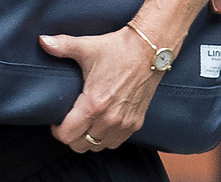 © Licensed to London News Pictures. FILE PICTURE 09/07/2018. London, UK. Marina Wheeler pictured wearing a ring on her left hand as she arrives at her home on July 9th, 2018. Photo credit: Peter Macdiarmid/LNP