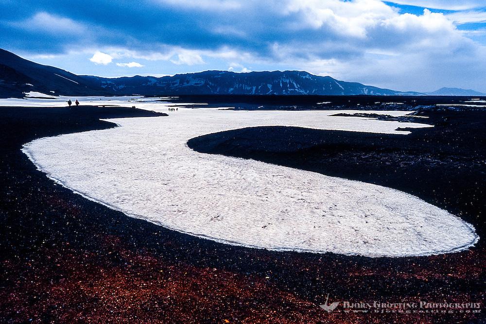 Iceland. Landscape in the Askja volcano.