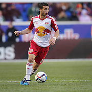 Felipe Martins, New York Red Bulls, in action during the New York Red Bulls Vs D.C. United Major League Soccer regular season match at Red Bull Arena, Harrison, New Jersey. USA. 22nd March 2015. Photo Tim Clayton