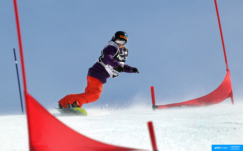 Jessica Comber, New Zealand, in action during the Duel Giant Slalom event at the Snow Sports NZ Junior Freeski and Snowboard Nationals at Cardrona Alpine Resort, Wanaka,  New Zealand, 27th September 2011. Photo Tim Clayton...
