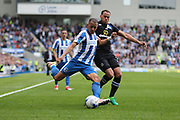 Brighton & Hove Albion defender Liam Rosenior (23) whips in a cross during the EFL Sky Bet Championship match between Brighton and Hove Albion and Blackburn Rovers at the American Express Community Stadium, Brighton and Hove, England on 1 April 2017.