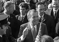 American President Richard Nixon greets crowds in Timahoe Co Kildare, 05/10/1970 (Part of the Independent Newspapers Ireland/NLI Collection).