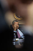 23.MARCH.2012. WASHINGTON D.C<br /> <br /> PRESIDENT BARACK OBAMA IS BRIEFED IN ADVANCE OF HIS TRIP TO THE REPUBLIC OF KOREA DURING A MEETING IN THE SITUATION ROOM OF THE WHITE HOUSE, MARCH 23, 2012.  <br /> <br /> BYLINE: EDBIMAGEARCHIVE.COM<br /> <br /> *THIS IMAGE IS STRICTLY FOR UK NEWSPAPERS AND MAGAZINES ONLY*<br /> *FOR WORLD WIDE SALES AND WEB USE PLEASE CONTACT EDBIMAGEARCHIVE - 0208 954 5968*