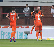 July 30th 2017, Dundee, Scotland; Betfred Cup football, group stages, Dundee versus Dundee United; Dundee United's Paul McMullan celebrates his goal with Lewis Toshney<br /> <br />  - Picture by David Young - www.davidyounghoto@gmail.com - email: davidyoungphoto@gmail.com