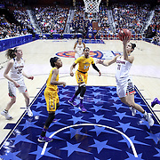 Kia Nurse, UConn, drives to the basket during the UConn Huskies Vs East Carolina Pirates Quarter Final match at the  2016 American Athletic Conference Championships. Mohegan Sun Arena, Uncasville, Connecticut, USA. 5th March 2016. Photo Tim Clayton