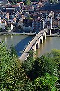 Alte Brücke, Heidelberg, Baden-Württemberg, Deutschland