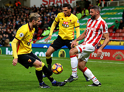 Jonathan Walters of Stoke City and Valon Behrami of Watford - Mandatory by-line: Matt McNulty/JMP - 03/01/2017 - FOOTBALL - Bet365 Stadium - Stoke-on-Trent, England - Stoke City v Watford - Premier League