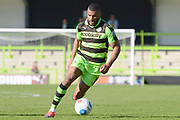 Forest Green Rovers midfielder Dan Wishart (17) on the attack 0-1 during the Vanarama National League match between Forest Green Rovers and North Ferriby United at the New Lawn, Forest Green, United Kingdom on 1 April 2017. Photo by Alan Franklin.