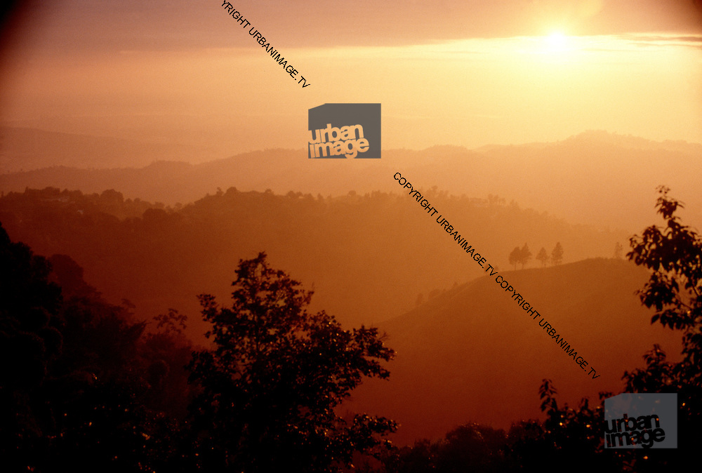 Sunset over the Blue Mountains - view from Strawberry Hill Jamaica