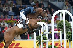 Farrington Kent, (USA), Voyeur <br /> Rolex Grand Prix, The Grand Prix of Aachen<br /> Weltfest des Pferdesports Aachen 2015<br /> © Hippo Foto - Dirk Caremans<br /> 31/05/15