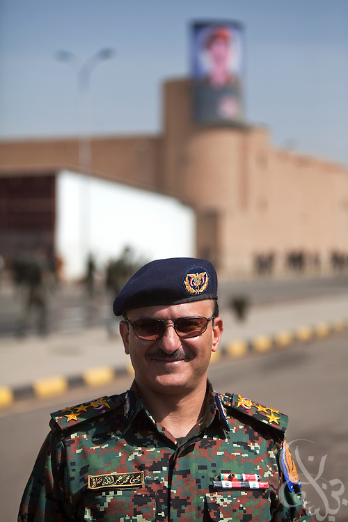 Brigadier General Yahya Mohammed Abdullah Saleh, Chief of Staff of Yemen's Central Security Forces poses for a portrait at the Central Security Forces Headquarters April 14, 2010 in the Yemeni capital Sana'a. Brig. General Saleh is the nephew of Yemeni President Ali Abdullah Saleh, and is in charge of Yemen's 50,000 + strong Central Security Forces under the Ministry of Interior.