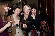MARINA BYE; MADELEINE BYE; JENNIFER SAUNDERS; RUBY WAX, , Veuve Clicquot Tribute award dinner for Ruby Wax for her outstanding contribution to the greater understanding of mental illness in the UK. Berkeley Hotel, London. 25 November 2011.