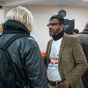London,England, UK. 5th Feb 2017. Visitors at Finsbury Park Mosque in north London, during a national #VisitMyMosque day organised by the Muslim Council of Britain, where British mosques opened their doors to the general public.  by See Li