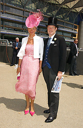 The EARL & COUNTESS OF DERBY at the first day of the Royal Ascot racing festival 2006 at Ascot Racecourse, Berkshire on 20th June 2006.<br />