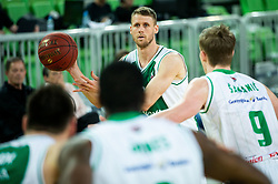 Luka Lapornik of Krka during basketball match between KK Petrol Olimpija and KK Krka in Round #6 of Liga Nova KBM za prvaka 2018/19, on April 5, 2019, in Arena Stozice, Ljubljana, Slovenia. Photo by Vid Ponikvar / Sportida