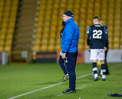 Raith Rovers manager John McGlynn after Livingston Lyndon Dykes scored their second goal. Livingston 3 v 1 Raith Rovers, William Hill Scottish Cup played 18/1/2020 at the Livingston home ground, Tony Macaroni Arena.