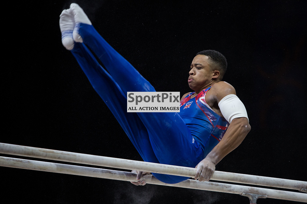 Joe Fraser of Great Britain competes in the Gymnastics Team Men Qualification - 2018 European Championships Glasgow, 9 August 2018. (c) Adam Oliver | sportPix.org.uk