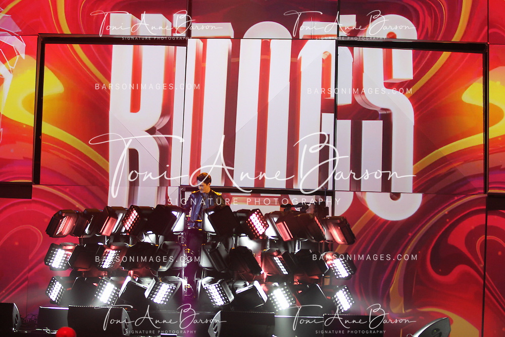 """PARIS, FRANCE - FEBRUARY 10:  Kings AKA Valentin Brunel performs during the """"32nd Victoires de la Musique 2017"""" at Le Zenith on February 10, 2017 in Paris, France.  (Photo by Tony Barson/FilmMagic)"""