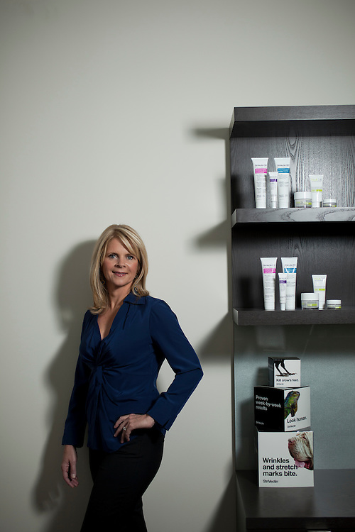 Kristine Cryer, Vice President of Product Development for the StriVectin skin care company inside the Raleigh, N.C., regional office, Wed., September 29, 2010.  ..D.L. Anderson for The Wall Street Journal ..TOT - EYECARE