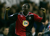 Photo: Tom Dulat.<br /> <br /> Tottenham Hotspur v Blackburn Rovers. The FA Barclays Premiership. 28/10/2007.<br /> <br /> Christopher Samba scored second goal for Blackburn Rovers . Blackburn Rovers leads 2-1