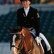 Amy Jager and Key West at the 2010 North American Young Rider Championships in Lexington, Kentucky.
