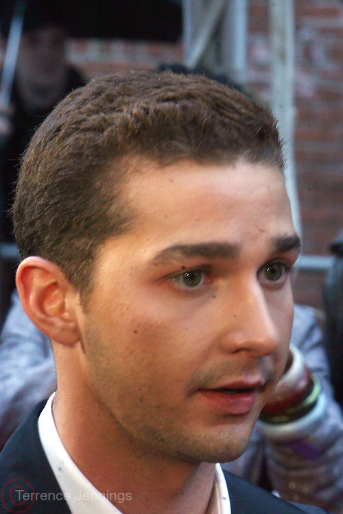 Shia LeBeouf at the BET Networks and Paramount special screening of Indiana Jones and the Kingdom of the Crystal Skull at The Magic Johnson Theater in Harlem, NYC on May 20, 2008
