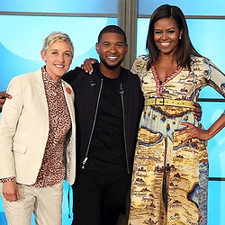 """Ellen DeGeneres releases a photo on Instagram with the following caption: """"I love @Usher! So does Shelly!"""". Photo Credit: Instagram *** No USA Distribution *** For Editorial Use Only *** Not to be Published in Books or Photo Books ***  Please note: Fees charged by the agency are for the agency?s services only, and do not, nor are they intended to, convey to the user any ownership of Copyright or License in the material. The agency does not claim any ownership including but not limited to Copyright or License in the attached material. By publishing this material you expressly agree to indemnify and to hold the agency and its directors, shareholders and employees harmless from any loss, claims, damages, demands, expenses (including legal fees), or any causes of action or allegation against the agency arising out of or connected in any way with publication of the material."""