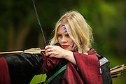 Kelly complete with bow and arrow at the Dragonslayer fantasy shoot.