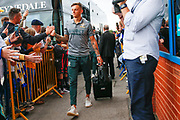 Leeds United defender Ben White (5), on loan from Brighton & Hove Albion, arriving during the EFL Sky Bet Championship match between Leeds United and Brentford at Elland Road, Leeds, England on 21 August 2019.