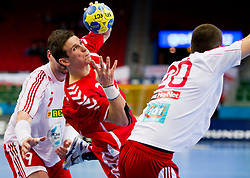 14.01.2011, Scandinavium, Göteborg, SWE, IHF Handball Weltmeisterschaft 2011, Herren, Polen vs Slovakei, im Bild, // Polen Poland 22 Marcin Lijewski with the ball // during the IHF 2011 World Men's Handball Championship match Poland vs Slovakia at Scandinavium in Gothenburg. EXPA Pictures © 2011, PhotoCredit: EXPA/ Skycam/ Per Friske +++++ ATTENTION - OUT OF SWEDEN/SWE +++++