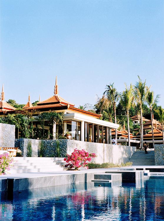 Swimming pool at the 5-star Trisara Resort
