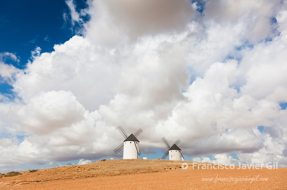 Windmills in Tembleque, Ciudad Real province, Castilla la Mancha, Spain