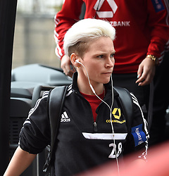 FFC Frankfurt's Jessica Fishlock arrives at Ashton Gate for UEFA Women's Champions League against Bristol Academy Women - Photo mandatory by-line: Paul Knight/JMP - Mobile: 07966 386802 - 21/03/2015 - SPORT - Football - Bristol - Ashton Gate Stadium - Bristol Academy v FFC Frankfurt - UEFA Women's Champions League