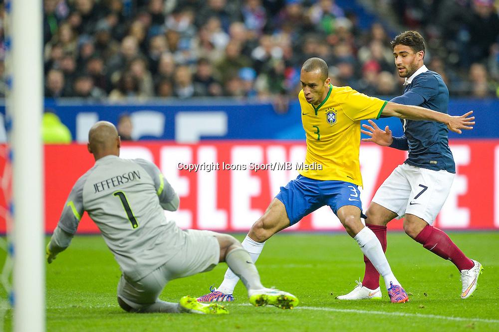 Joao Miranda / Nabil Fekir  - 26.03.2015 - France / Bresil - Match Amical<br />Photo : Andre Ferreira / Icon Sport
