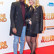 NLD/Amsterdam/20151207- Filmpremiere Bon Bini Holland, Eljero Elia en partner Sanne Hoogkramer