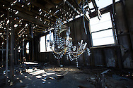 New Orleans, LA, January 20, A broken chandelier inside a blighted home in New Orleans lower 9th ward.Nine years after hurricane Katrina parts of the city have still not recovered.
