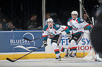 KELOWNA, CANADA - JANUARY 3: Colten Martin #8 of Kelowna Rockets skates against the Prince George Cougars on January 3, 2015 at Prospera Place in Kelowna, British Columbia, Canada.  (Photo by Marissa Baecker/Shoot the Breeze)  *** Local Caption *** Colten Martin;