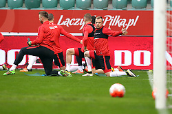 25.03.2016, Stadium Municipal, Wroclaw, POL, Training Fußballnationalmannschaft Polen, im Bild (P) KAMIL GROSICKI // during a practice session of Polish national football team before tomorrow friendly match between Poland and Finland at the Stadium Municipal in Wroclaw, Poland on 2016/03/25. EXPA Pictures © 2016, PhotoCredit: EXPA/ Newspix/ Jakub Piasecki<br /> <br /> *****ATTENTION - for AUT, SLO, CRO, SRB, BIH, MAZ, TUR, SUI, SWE only*****