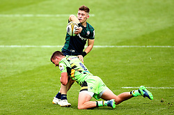 Rory Brand of London Irish is tackled by Alex Mitchell of Northampton Saints - Mandatory by-line: Robbie Stephenson/JMP - 29/07/2017 - RUGBY - Franklin's Gardens - Northampton, England - Northampton v London Irish - Singha Premiership Rugby 7s