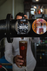 Available at The Craft Beer Co's Clerkenwell pub at 82 Leather Lane, London, is Evil Twins' Molotov Heavy, an IPA beer that at 17.2 ABV will cost you £19.50 for a pint - although it is usually served in half pints or thirds. The Craft Beer Co specialises in micro-brewed cask ales, small batch craft beers and offers over 400 different bottled beers from around the world, including one, American brewer Alesmith's 'Reforged XX ', which is aged in bourbon barrels, at £105 for a 750ml bottle. London, August 24 2018.