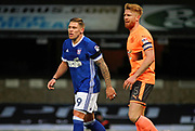 Ipswich Town striker Martyn Waghorn (9) and Reading defender Paul McShane (5) during the EFL Sky Bet Championship match between Ipswich Town and Reading at Portman Road, Ipswich, England on 16 December 2017. Photo by Nigel Cole.