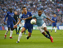 February 24, 2019 - London, England, United Kingdom - Manchester City's Raheem Sterling holds of Chelsea's Cesar Azpilicueta.during during Carabao Cup Final between Chelsea and Manchester City at Wembley stadium , London, England on 24 Feb 2019. (Credit Image: © Action Foto Sport/NurPhoto via ZUMA Press)