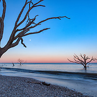 Botany Bay full moonrise, on Edisto Island, SC