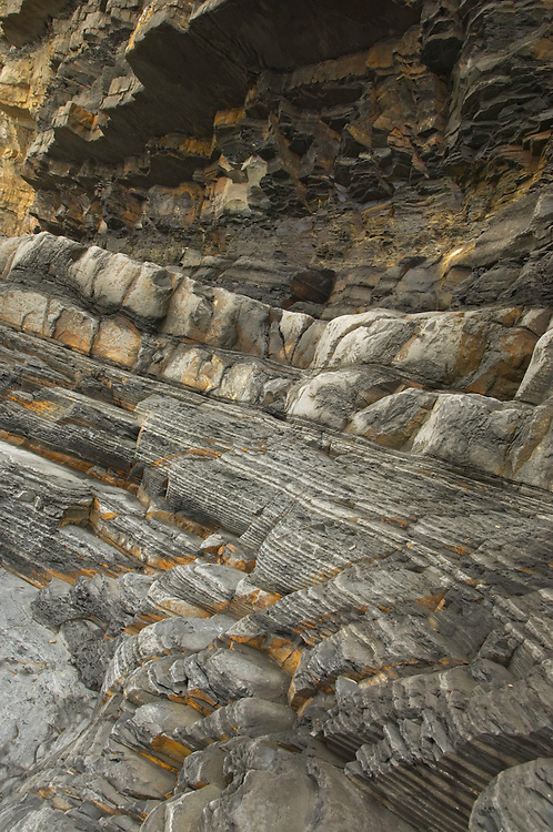 Rock details. Ponta Atalaia, North of Arrifana beach. Southwest Alentejo and Vicentine Coast Natural Park, Portugal.