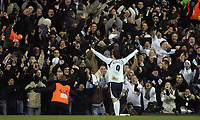 Photo: Paul Thomas.<br /> Tottenham Hotspur v Arsenal. Calring Cup, Semi Final 1st Leg. 24/01/2007.<br /> <br /> <br /> Dimitar Berbatov of Spurs celebrates his goal.