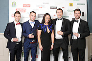 29/9/14***NO REPRO FEE***Pictured are Ian McNamara, Brian O'Reilly, Wendy Harris, Darragh Fitzpatrick and David Sherry at the 11th Q Ball in aid of Spinal Injuries Ireland at The Ballsbridge Hotel last night Pic: Marc O'Sullivan
