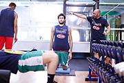 Davide Pascolo<br /> Raduno Nazionale Maschile Senior<br /> Allenamento mattina, sala pesi<br /> Cagliari, 02/08/2017<br /> Foto Ciamillo-Castoria/ M. Brondi