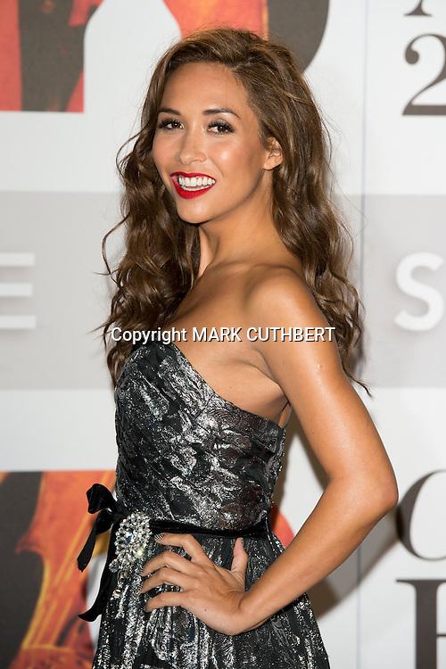 Myleene Klass arriving at the 2012 Classic Brit Awards at the Royal Albert Hall in London.
