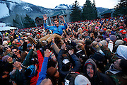 Saturday, March 26, 2016  : Fans enjoyed the vibes of Michael Franti & Spearhead as they perform at Park City Mountain Resort as part of their Spring Grüv.  Photo by Jeff Swinger/SwingmanPhoto